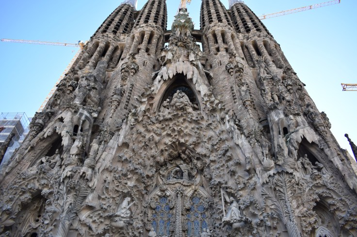 Outside of La Sagrada Familia