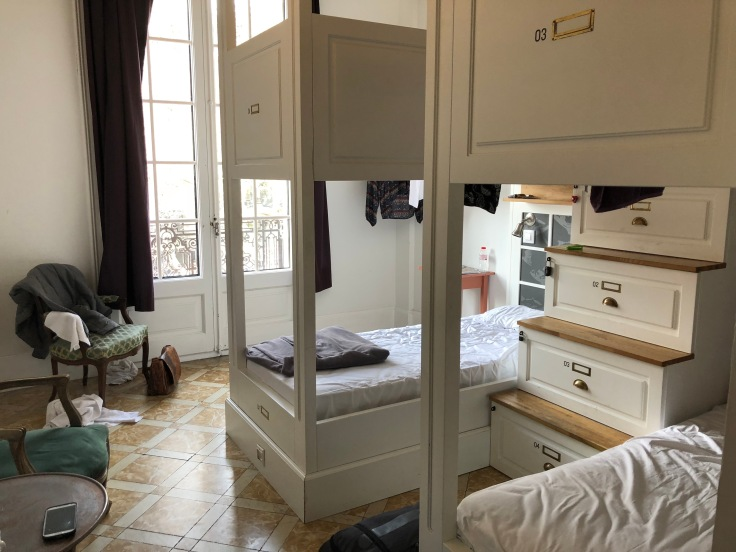 Four bed shared room at Casa Gracia Hostel.