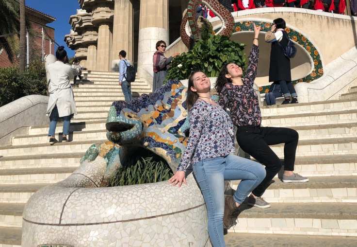 Cheetah Girls in Park Guell, Barcelona