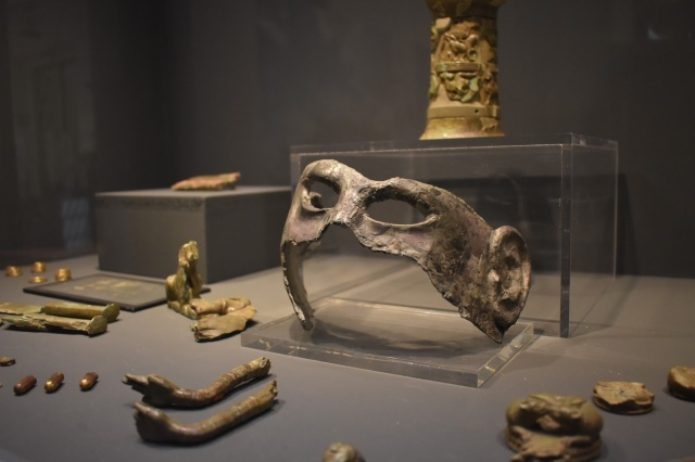Artifacts on display at the National Archaeological Museum in Florence, Italy