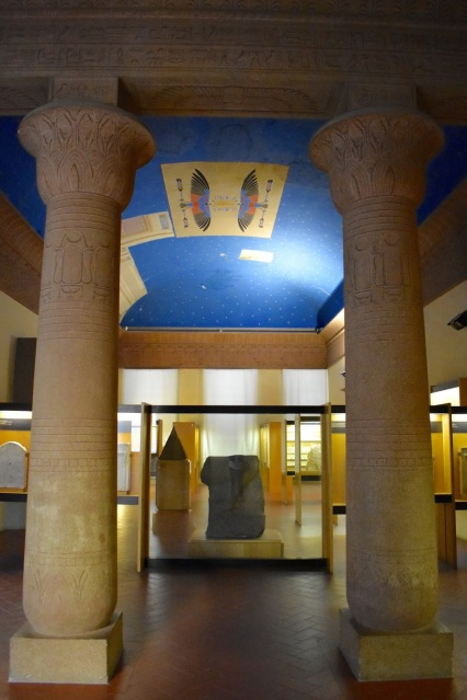 Mock Egyptian architecture at the National Archaeological Museum in Florence, Italy