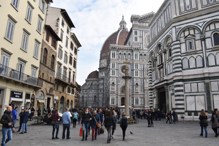 Tourists at the Duomo