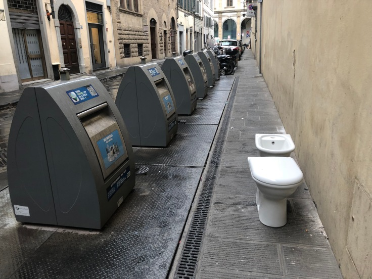 Florence's trash cans