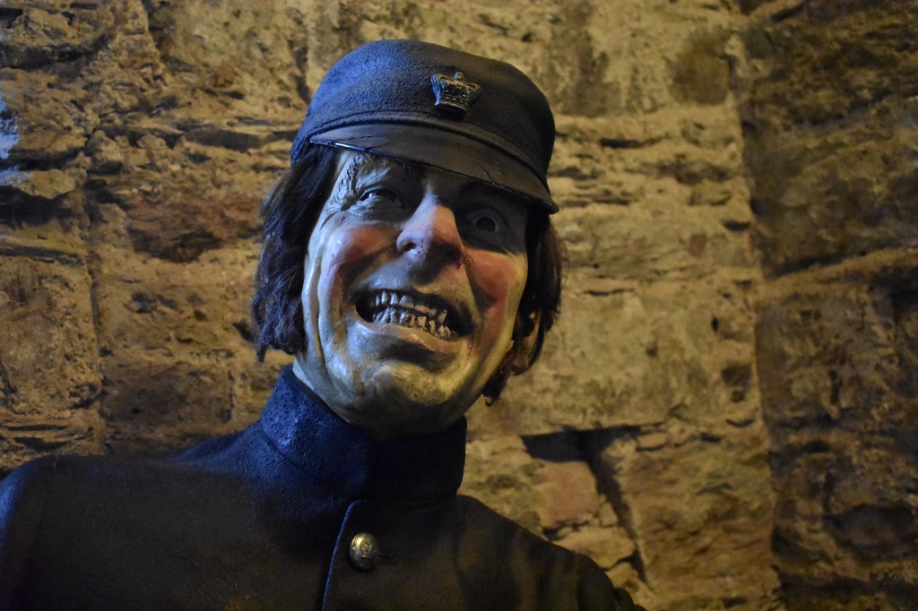 Creepy wax figure at the Cork City Gaol...I guess this guy would have watched us overnight! Let's not think about that.
