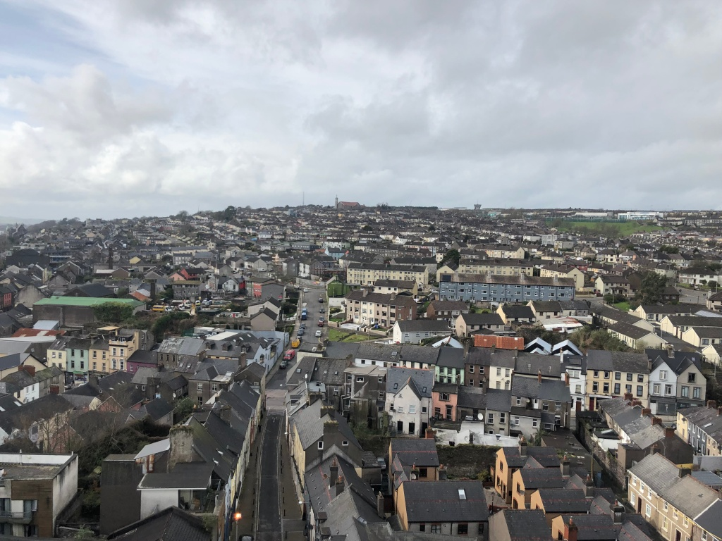 View of Cork from the Shandon bell tower.
